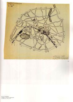 Guy Debord Croquis 1957, International Situationists.