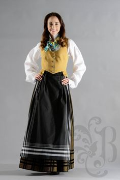 Tromsbunad Folk Costume, Costumes, Norway, High Waisted Skirt, That Look, Culture, Traditional, Detail, Lady