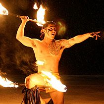 tribal tatt AND a Fire Dancer... have mercy...