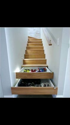 The closet stairs