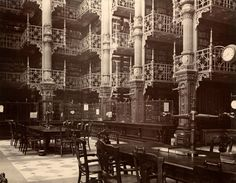the reading room of the original Detroit Public Library. what i would give to have been able to go THERE!