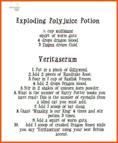 Use black cauldrons for Potions Class Experiments - free printable