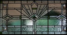 Art Deco Window - The windows were most often geometric in shape with little colour and minimal