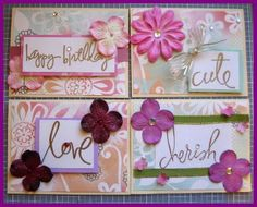 Set of 4 Cards- Paper collection from MAMBI