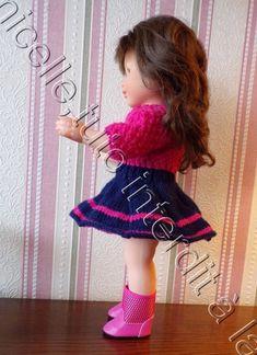 tuto gratuit poupée : jupe bicolore Pulls, Marie, Bicolor Cat, Layette