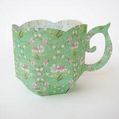 Silhouette Tea Cup  {via Cactus & Olive}