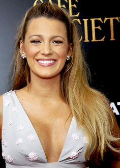 Blake Lively attends the New York premiere of 'Cafe Society' on July 13, 2016.