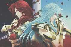 Saint Seiya: The Lost Canvas - Pisces Albafica and Lugonis