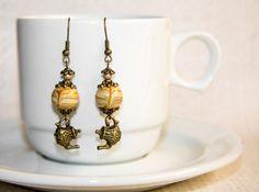 Tea & Coffee Time earrings by CrazySmykker on Etsy, kr50.00