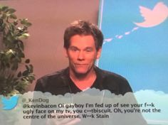 Kevin Bacon reads mean tweets