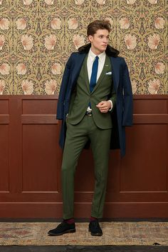 A beautiful green suit. Gant Rugger Holiday Collection 2012.