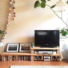 Brick Shelves, Upcycled Furniture Before And After, Home Furniture, Furniture Design, Game Room Design, Japanese Interior, Living Room Inspiration, New Room, Home Remodeling