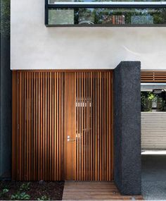 wood windows modern entry architecture  Japanese Trash masculine design inspiration