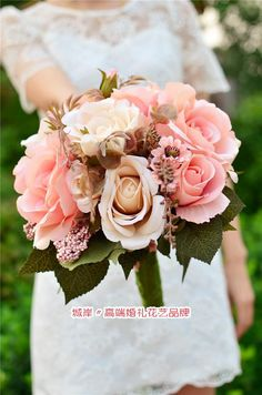 prom+flower+bouquets+2014 | New 2014 high-end Bride Wedding Simulation Holding Flowers Europe Type ...