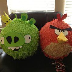 Pull string Angry bird pinata and pig piñata for kids birthday