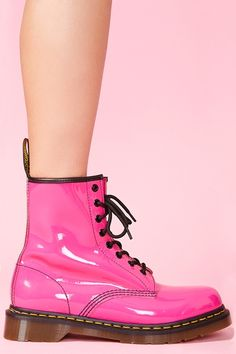 Classic 8 Eye Boot in Hot Pink Patent.  deifnitely had these when I has a kid thanks to @Sarah Angelo