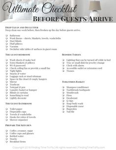 Guest Bedroom 92494 Know exactly how to prepare for overnight guest with this Ultimate Checklist for Before Guests Arrive. Includes a printable checklist!