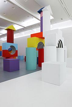 daniel buren, comme un jeu d'enfant, travaux in situ, 2014