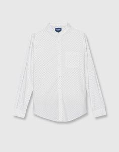 Camisa oxford print - Camisas - Ropa - Hombre - PULL&BEAR Ecuador
