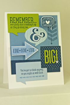 Think Big Card by Erin Lincoln for Papertrey Ink (February 2014)
