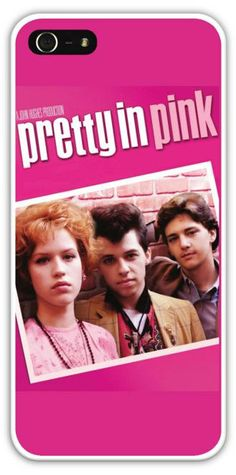 $24.99+FREE SHIPPING! Pretty in Pink Cell Phone Case Cover Apple iPhone 4 4S 5 5S Samsung Galaxy S3 S4 Movie Molly Ringwald 80's John Hughes 1980's...