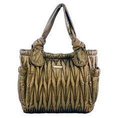 Timi And Leslie Marie Antoinette Tote Diaper Bag Gemstone Collection - Amber | Designer Diaper Bags   www.duematernity.com