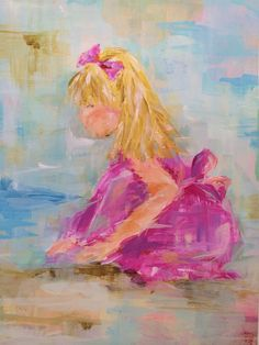 """""""Girl at the beach"""" by Susan Pepe"""