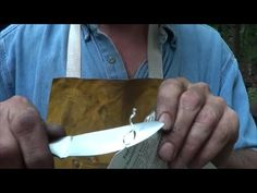Hand Forged Skinning Knife For Vin - YouTube