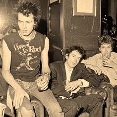 Sex Pistols - Johnny Rotten, Sid Vicious and Steve Jones
