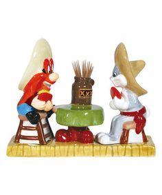 Yosemite Sam Salt & Pepper Shaker/Toothpick Holder Set by Looney Tunes #zulily #zulilyfinds