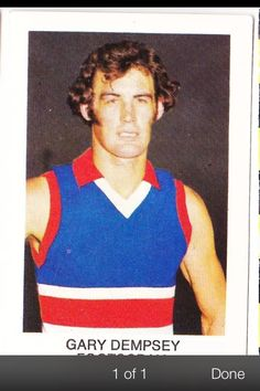 Gary Dempsey Australian Football, Great Team, Football Cards, Legends, Nostalgia, Tank Man, Sports, Mens Tops, Soccer Cards