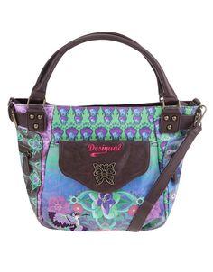 Desigual - Hnědá kabelka s barevným vzorem  Allegra McBee - 1