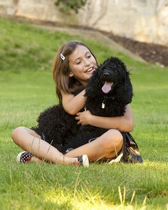 Children's photography immortalises the love between a girl and her dog.