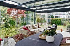 Véranda en verre / tout verre by Glas Marte GmbH Veranda Design, Winter Garden, Decorative Objects, This Is Us, Patio, Let It Be, Interior Design, Outdoor Decor, Extensions