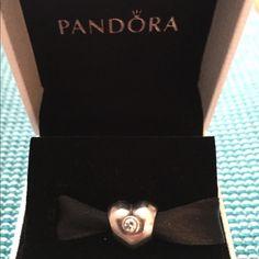 Pandora Heart with clear CZ Retired heart with clear CZ Pandora Jewelry Bracelets