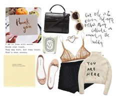 """i'm here"" by parisheartschic ❤ liked on Polyvore featuring Deborah Marquit, Repetto, Stolen Girlfriends Club, Yves Saint Laurent, Diptyque, Alex Monroe and Dries Van Noten"