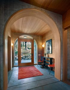 Rustic Entry by BCV ARCHITECTS. Oh, to have a home in which this foyer is a clue to the interior.