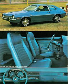 1972 Ford Pinto Two Door Sedan. The most dangerous, fire hazard on the road. My dad had this car. Had many a ride in the back with  the seats down and no seat belt. No air conditioning either. Or power steering. Learned to drive on this baby.
