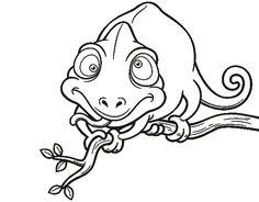 Vector illustration of Cartoon Chameleon - Coloring book - stock vector Karma Chameleon, Line Drawing, Coloring Books, Stock Photos, Cartoon, Wall Art, Gallery, Drawings, Illustration