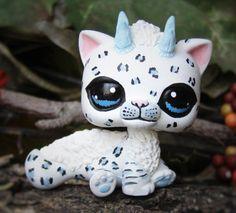 Littlest Pet Shop Snow Leopard Dragon Forest by LittleCustomShop
