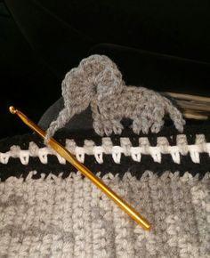 Crochet elephant border…