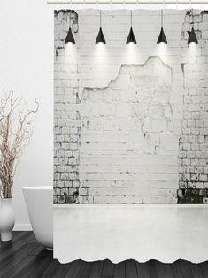 Mottled Wall Waterproof Shower Curtain