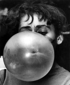bubble gum | bubble | black & white | photography | vintage photo | cool | gum | play | www.republicofyou.com.au