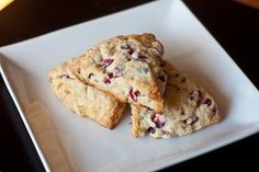 Cranberry Cream Scones with Candied Ginger from Erin's Food Files