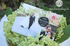 thank you card with wedding photos by: www.creativedestiny.ca