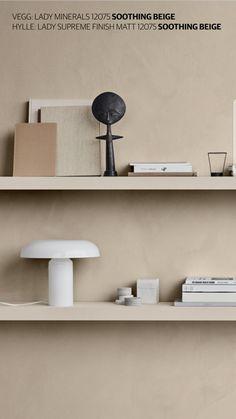 Jotun Fargekart 2019 - Identity Shelving Solutions, Design Trends, Color Trends, House Colors, Wall Design, Interior Inspiration, Furniture Design, Shelves, Wall Decor