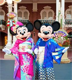 Mickey and Minnie Mouse in Japan