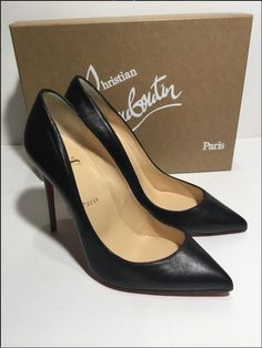 # Christian Louboutin Black Kid Leather Pigalle Follies 100mm 38