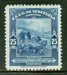 VENEZUELA - EL PASO DE LOS ANDES - STAMP