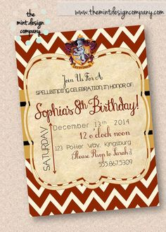 This Harry Potter inspired birthday party is just spellbinding! Order your invitation at: www.themintdesigncompany.com